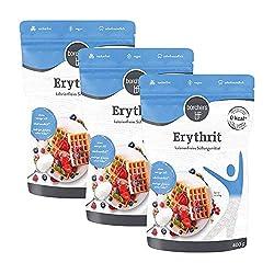 3 x borchers 100 % Erythrit, Zuckeralternative, Kalorienfrei, Erythritol, Aus Frankreich 3 x 400 g