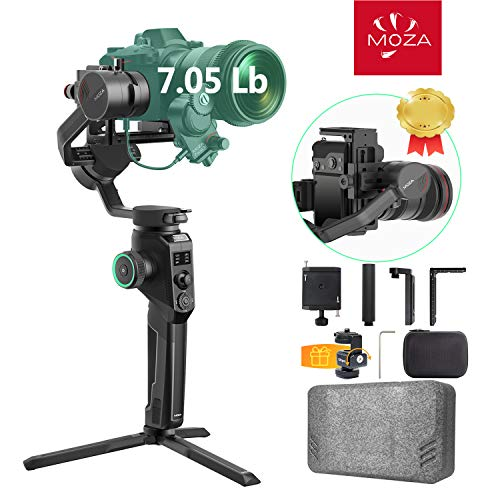 Moza Aircross 2 with Carrying Case, 3-Axis Handheld Gimbal Stabilizer, Up to 7.1 lbs 8 Follow Modes Dual Follow Focus System for DSLR Mirrorless Cameras with Larger Heavier Lens