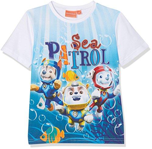 Nickelodeon Jungen Paw Patrol Sky and Sea T-Shirt, Türkis (Blau), 3 Jahre