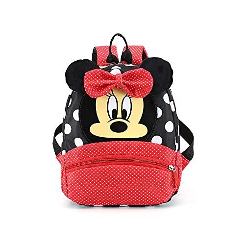 FGen Rucksack,Minnie Mouse Kinderrucksack,rucksack kindergarten für 3-8 Jährige im Kindergarten Jungen Rucksack Mädchen Rucksack(schwarz)