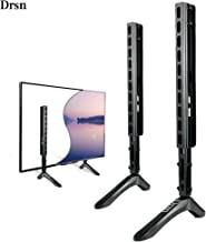 """Universal TV Stand for 39-65"""" - Drsn Flat TV Stand Legs Loading Capacity 99.2 lbs - Pedestal Feet Wall Mount for General TV Vesa as Vizio TCL Sony LG Samsung TV Stands for Desk Top Wall Mounting Black"""