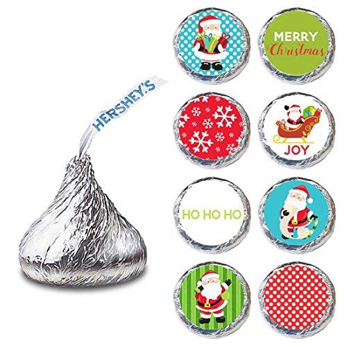 Weihnachts mann Etikett für HERSHEY'S KISSES® Pralinen - Weihnachts party Bonbonaufkleber - Set Von 240