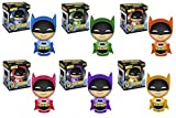 Batman Azules Aniversario 75a, púrpura, Naranja, Amarillo,, Figuras dorbz Vinilo Rosa Arco Iris s Verde Conjunto de 6