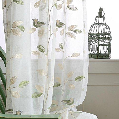 TINE HOME CURTAINS Vorhänge und Vorhänge Gardinen Luxus Weiß Verdickung Stickerei Tüllvorhänge Zum Fensterdekorationen Wohnzimmer Tülle Oben Ein Panel, 1pc(350*270 cm