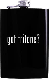 got tritone? - 8oz Hip Alcohol Drinking Flask, Black