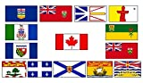 NOV Canada Canadian Provinces Provincial Wholesale Lot 3x5 Polyester Flags Set 3'x5' Banner with Brass Grommets