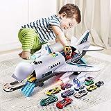 AORED Avión de juguete de la estructura juego juguete Ladrillos for Niños real modelo de avión de pasaje de gran tamaño Pista inercia del avión Toy Boy Mi Aeropuerto Juego de construcción, regalos for