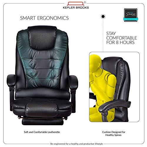 Kepler Italia High Back Reclining Leatherette Office Desk Chair