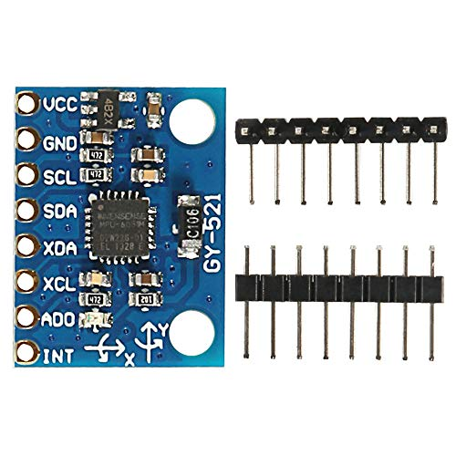 Partstower GY-521 MPU-6050 Module 3 Axis Gyroscope+ 3 Axis Accelerometer Module for Arduino