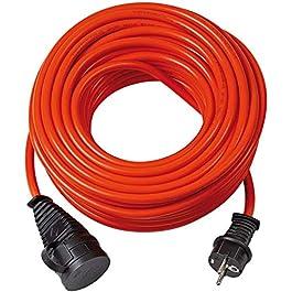 Brennenstuhl 1161590 BREMAXX Cordon prolongateur IP44 AT-N07V3V3-F 3G1,5, Orange, 10 m