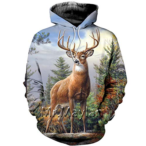 Animal Camo 3D Jacket Hombres/Mujeres Harajuku Hoodie Unisex Casual Streetwear Sudadera Pullover Hoodies Asian Size M
