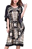 Chemise de Nuit Femme Soie en Vrac Grande Taille - Longue Robe Couverture Satin Pyjama Femme Manches Courtes