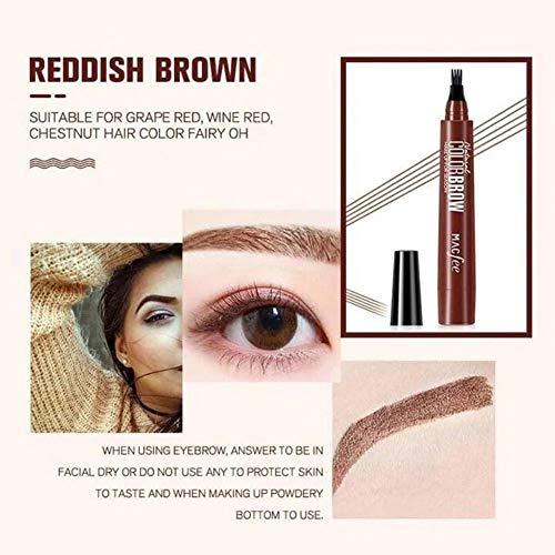 Crayon à sourcils, imperméable à la sueur pour les amateurs débutants et professionnels,eyebrow color pour remplir les zones clairsemées (café foncé/café clair/marron/noir)