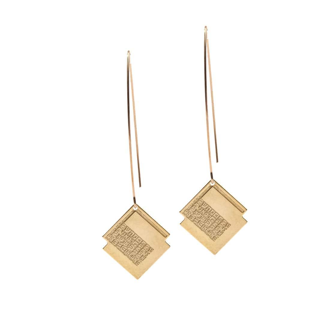 Statement Earrings Great interest For Women Unique Overseas parallel import regular item Gold Long Dangle Geometric