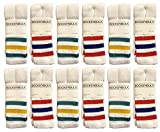 Yacht & Smith Mens & Womens Wholesale Bulk Cotton Tube Socks, Referee Style, by SOCKS'NBULK (12 Pairs Assorted, Womens 9-11 (Shoe size 5-10))