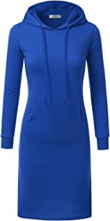 Hoodie Midi Dress for Women with Plus Size