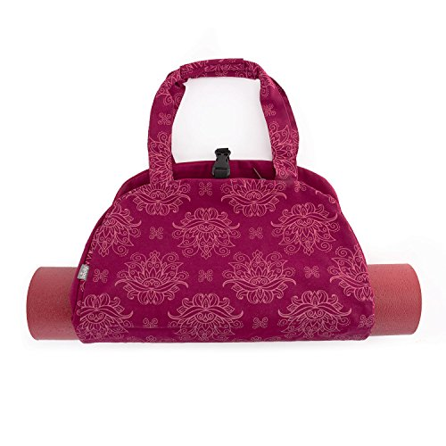 Bodhi Yoga-Tasche NAMASTÈ Bag, Maharaja Collection, leichte Yogatasche im schönen Handtaschen-Look (Lotus/Berry)