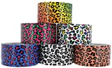 "RAM-PRO Leopard Series Duct Tape Assorted Colors Pack-6, 1.88"" x 5 Yard – Colors Included: Blue/Purple/Green/Pink/Red/Yellow, Brown/Orange, Green/Pink, Blue/Pink, Black/Grey, Blue/Green/Pink/Yellow."