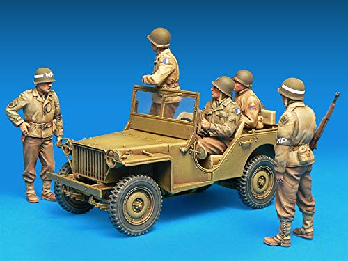 Miniart 35308-1/35 - American Vehicle Crew and Military Police Officers Model kit