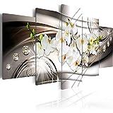 murando - Bilder 200x100 cm Vlies Leinwandbild 5 TLG Kunstdruck modern Wandbilder XXL Wanddekoration Design Wand Bild - Blumen Orchidee Diamant b-A-0238-b-n