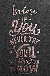 Isadora If You Never Try You Never Know: Motivational To Do Checklist Notebook / Journal Gifts for Daily Task Planner & Ti...