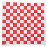 Checkered Deli Basket Liner, 12 X 12 Inches, Red and White, 100 Count...
