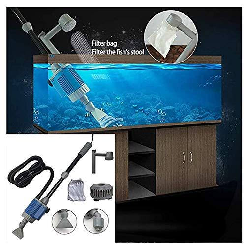LIYT Elektro-Fisch-Behälter-Wasser-Wechsler, Aquarium, Elektro-Steinbrecher-Reinigungs-Kit, Aquarium, Reinigung Staubsauger ändern,Blau,20w 3m