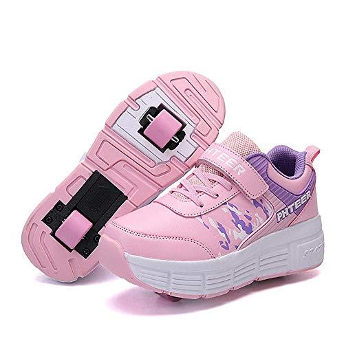 Zapatillas con Ruedas Zapatos con ruedas para niños Zapatillas de skate con...