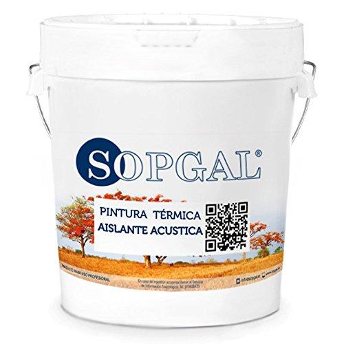 Pintura Termica y aislante acustica Sopgal - 15 Ltr, Interiores
