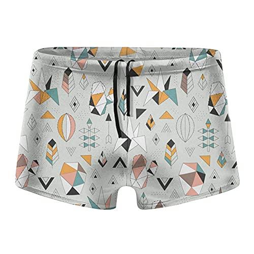XCNGG Geometric Succulents Herren Schnell trocknende Boxershorts Badebekleidung Shorts Trunks Badeanzug-Groß