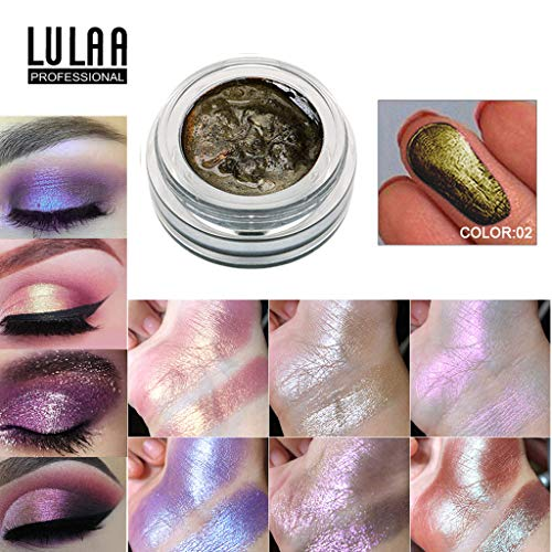 POachers 14 couleurs Jelly Gel Surligneur Maquillage Correcteur Shimmer Visage Glow Eyeshadow Ombre à Paupières Crème Color Tattoo 24H