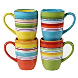 Certified International Mariachi Mugs (Set of 4), 20 oz, Multicolor