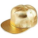 Shanxing Snapback Cap Hip Hop Mütze Baseball Kappe für Herren und Damen, 011-Gold, Einheitsgröße