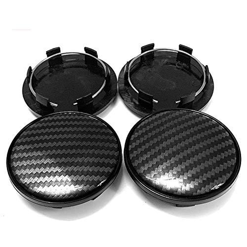 NCUIXZH 4 unids/Lote 3D patrón de Fibra de Carbono 69 MM Tapa de Cubo de Centro de Rueda de Coche, para Audi A3 A4 A5 A6 A7 A8 Q5 R8 S4 S5 S6 TT Cubierta de Tapa de llanta de Rueda