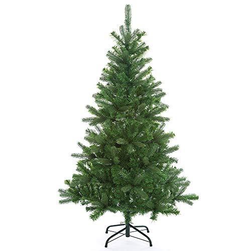 Casaria Weihnachtsbaum 140 cm Edeltanne Ständer künstlicher Tannenbaum Christbaum Tanne Weihnachten Mix PE PVC Grün