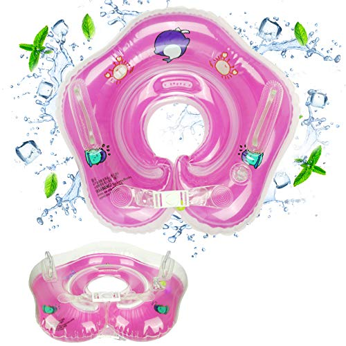 Bebé Natación Anillo Seguridad Flotador Infantil Círculo, GUBOOM Bebe Ajustable Inflable Doble Airbag Flotador para 1-24 Meses Bebé Flotadores, Anillo de Natación para Bebé