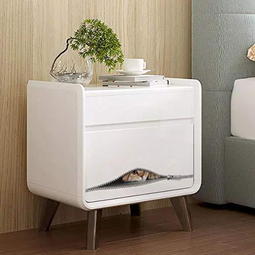 Schattige kat op rits Muursticker kastje badkamer toilet voor decoratie behang stickers badkamer stickers op de muur