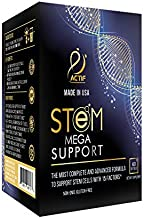 Actif Stem Cell Mega Support with 15 Factors - Non-GMO, 2 Month Supply, Made in USA