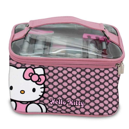 Sanrio - HK.0267.11 - Vanity de Maquillage - Hello Kitty - 17 Pièces de Cosmétiques