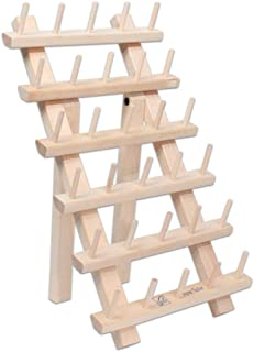 June Tailor Wood Thread Rack 30 Mini Spool w/Legs WoodThreadRack30MiniSpoolwLegs