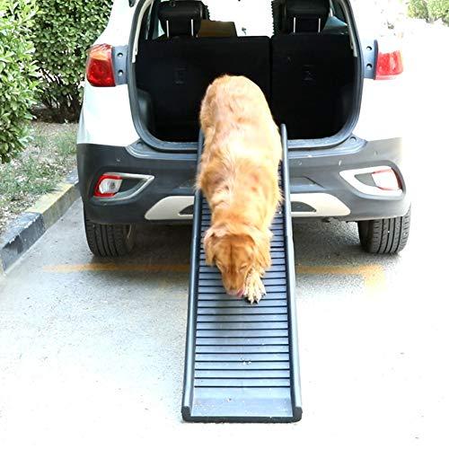 HYDT rutschfeste Faltbare Große Hunderampe, Extra Lange Tragbare Haustiertreppe für Autos Rücksitz, Laden Sie Bis zu 165 Pfund
