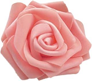 50x künstliche Rose Blume Kopf Girlanden Home Decor Brautstrauß 11 Farbe