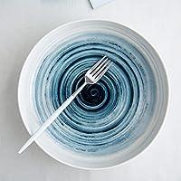 クリエイティブセラミックディッシュホームラージディスク、10インチ (Color : A)