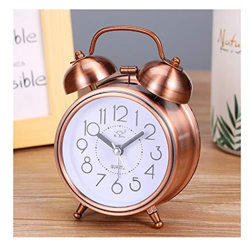 Despertador Creativo Vintage Retro Relojes De Puntero Silencioso Tocando La Campana Despertador Ruidoso con Luz Decoración del Hogar Junto A La Cama