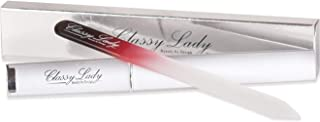 ClassyLady Professional Glass Nail File - Double Sided Glass Nails File instead of Emery Boards and Buffers, Singles with Cases (Black/Red with Case)