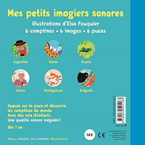 Mes Comptines du Monde : 6 Comptines, 6 Images, 6 Puces (Livre Sonore)- Dès 1 an