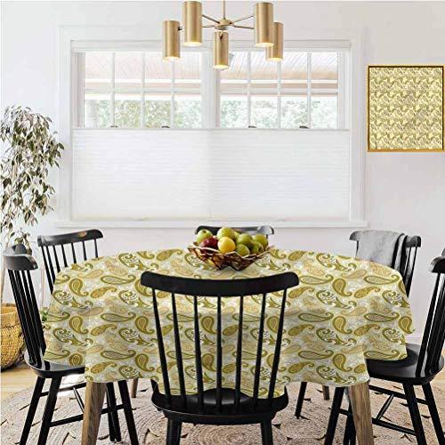 Ronde tafelkleed, Makkelijk schoon tafelkleed, Abstract, Floral Geometric Zig Zag Rimpelvrij tafelkleed