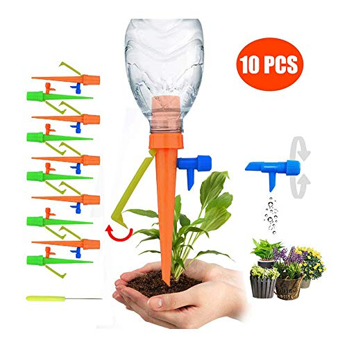 10 pack Plant Self Watering Spikes Automatic Watering Set Adjustable Irrigation Watering System Garden Planting (10 Pack)