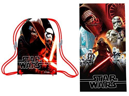Sommer-Geschenkset, kleines Baumwollhandtuch und Sporttasche Star Wars VII