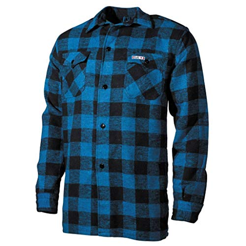 Fox Outdoor, MFH Holzfällerhemd, kariert Hemd Jacke Luberjack (blau-schwarz, XXXL)